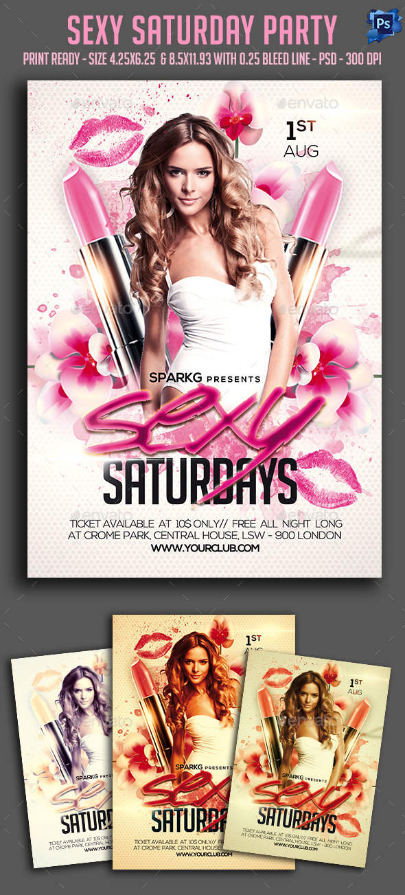 Sexy Saturday Party Flyer - Clubs & Parties Events