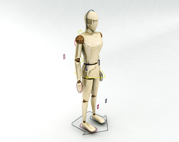 Rigged Mannequinn - 3DOcean Item for Sale