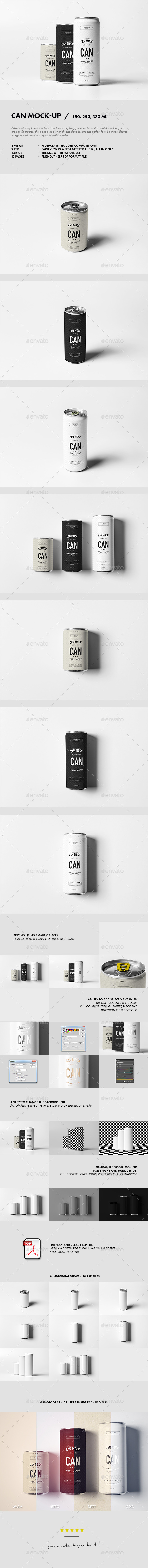 Can Mock-up - Food and Drink Packaging