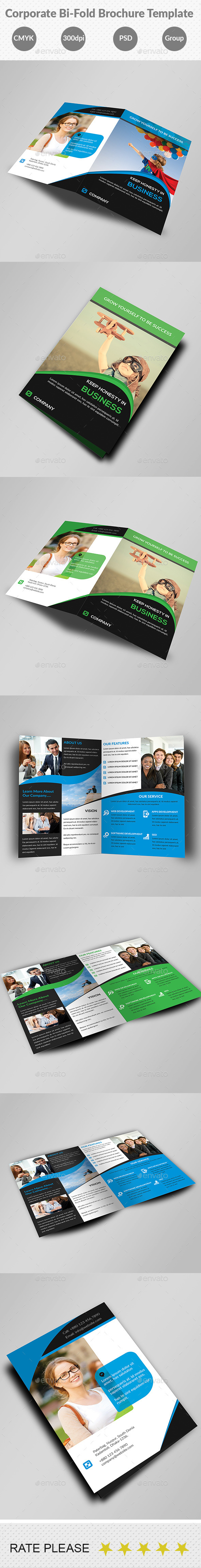 Corporate Bi-Fold Business Brochure Template - Corporate Brochures