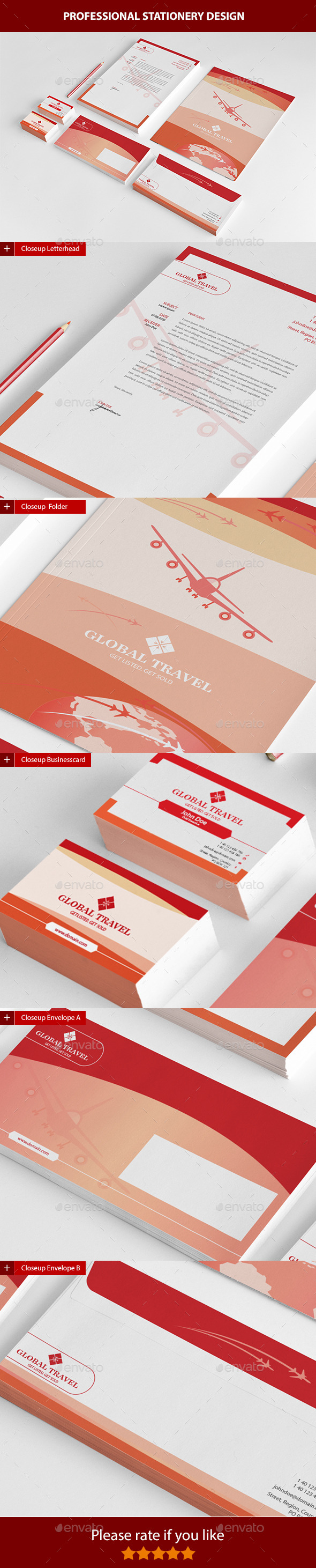 Global Travel - Stationery Print Templates