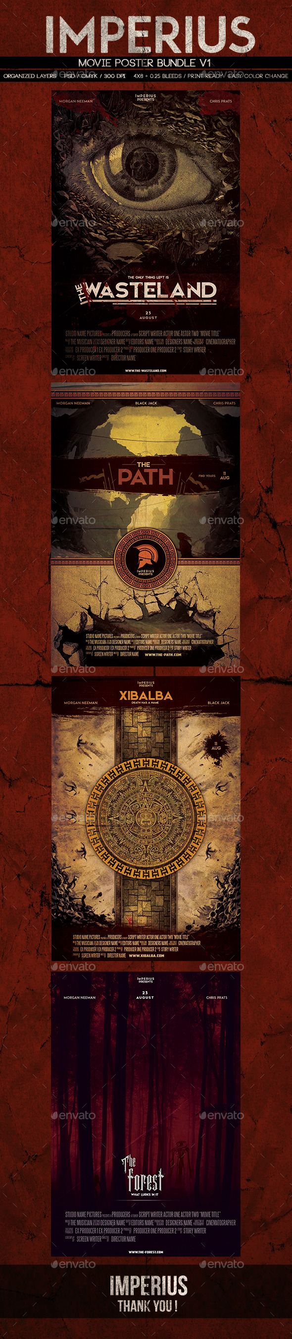 Movie Poster Bundle - Miscellaneous Print Templates