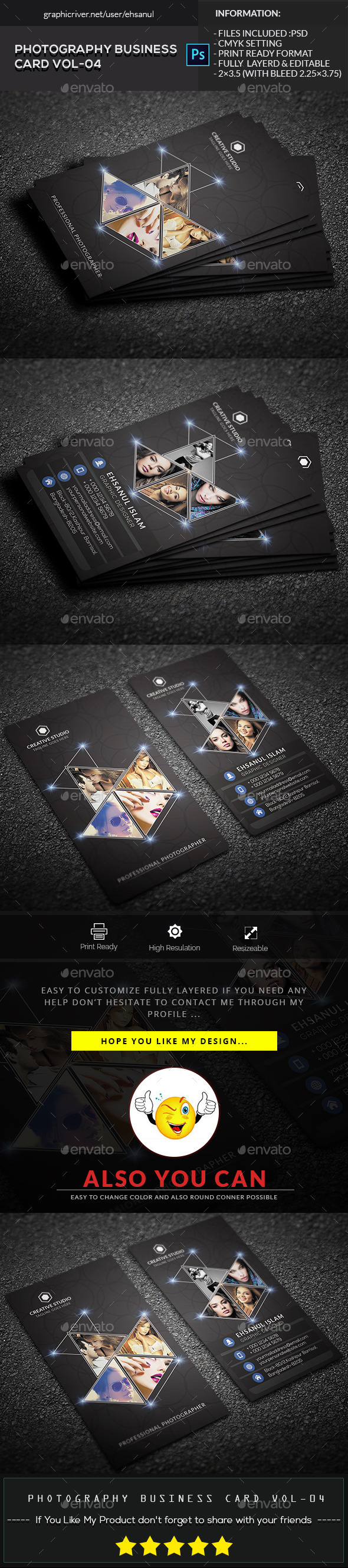 Photography Business Card Vol 04 - Creative Business Cards