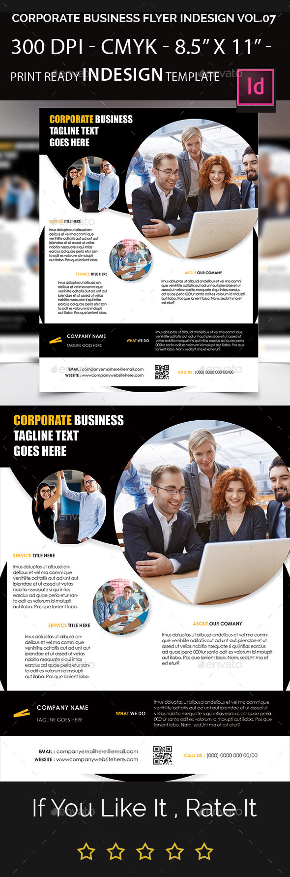 Corporate business flyer indesign template by arnabkumar for 8 5 x 11 brochure template indesign