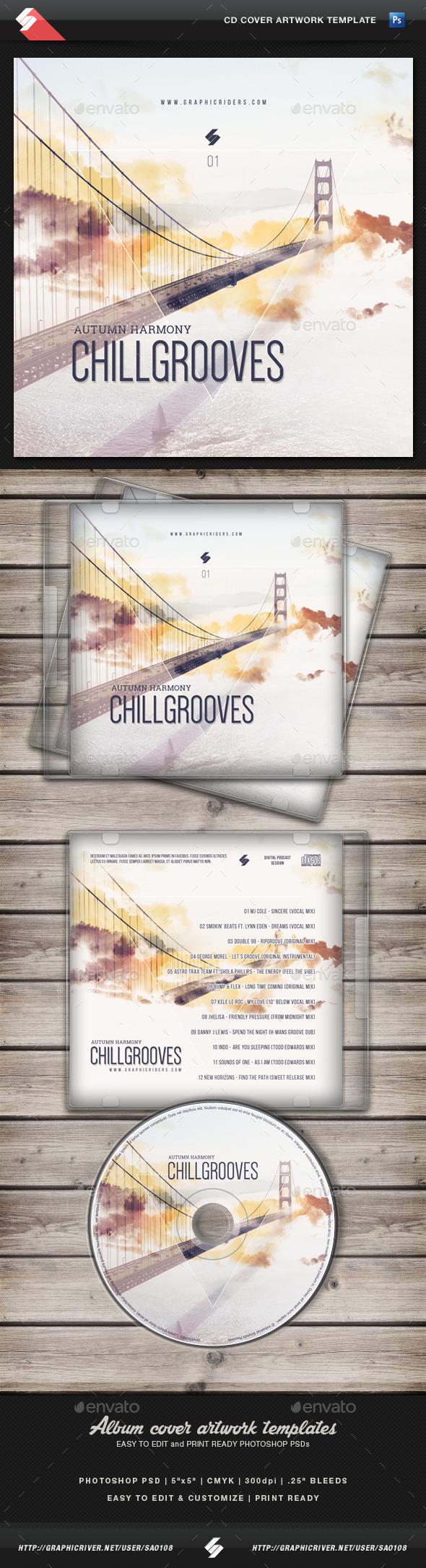 Chill Grooves (Autumn Harmony) - CD Cover Artwork - CD & DVD Artwork Print Templates
