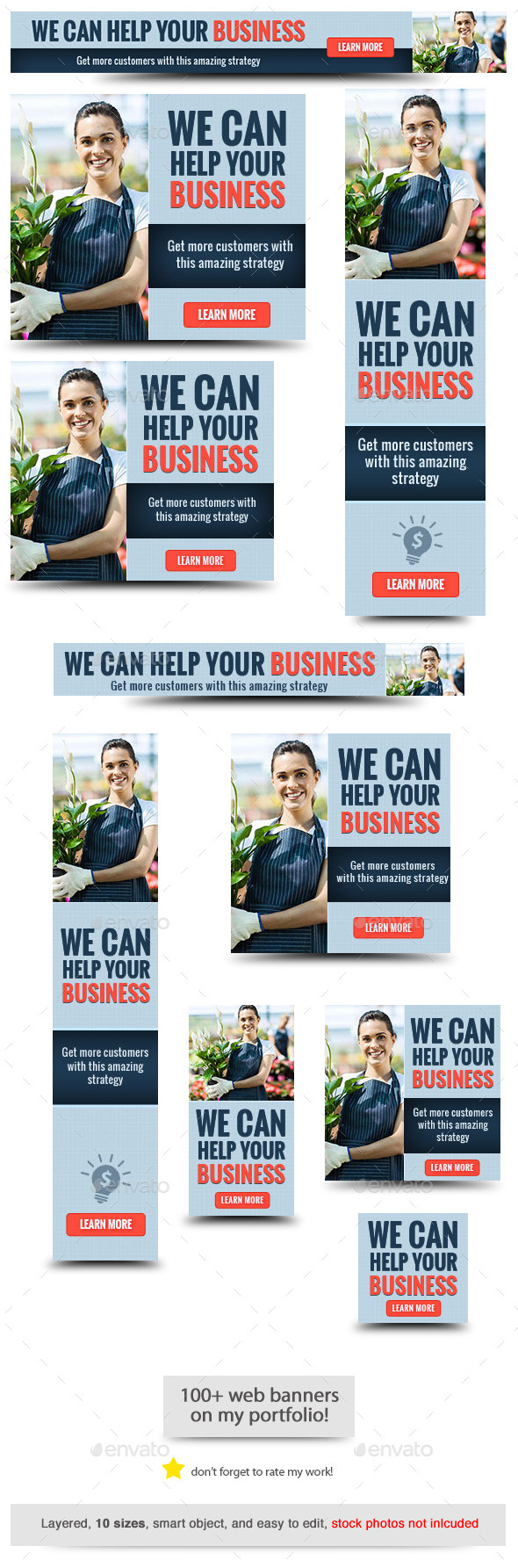 Corporate Web Banner Design Template 66 - Banners & Ads Web Elements