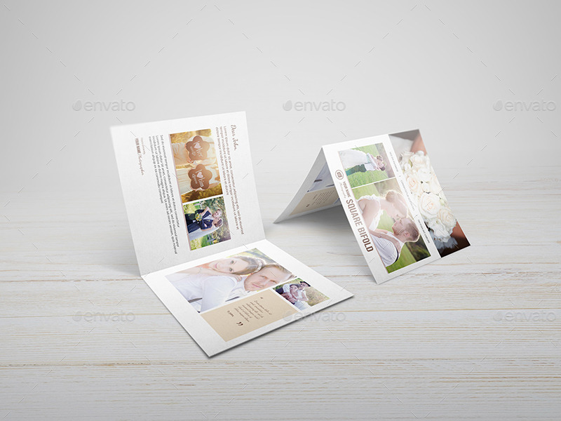 Square Greeting Card Invitation Mockups by Wutip GraphicRiver