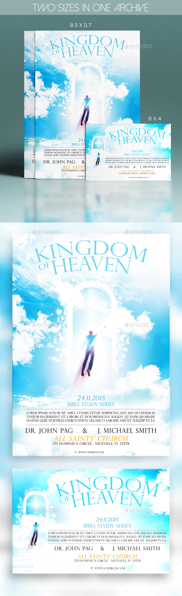 Kingdom Of Heaven - Church Flyers