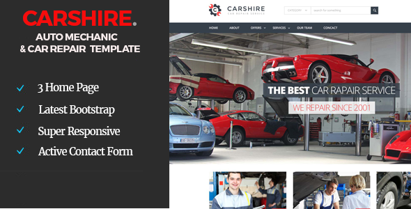 Car Shire Auto Mechanic & Car Repair Template