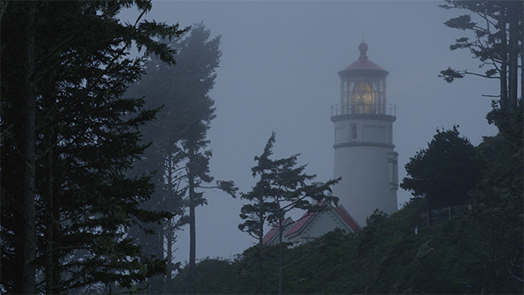 Lighthouse in Fog Mid