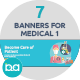 Flat Concept Banners for Medical - GraphicRiver Item for Sale