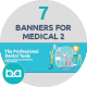 Flat Concept Banners for Medical 2 - GraphicRiver Item for Sale
