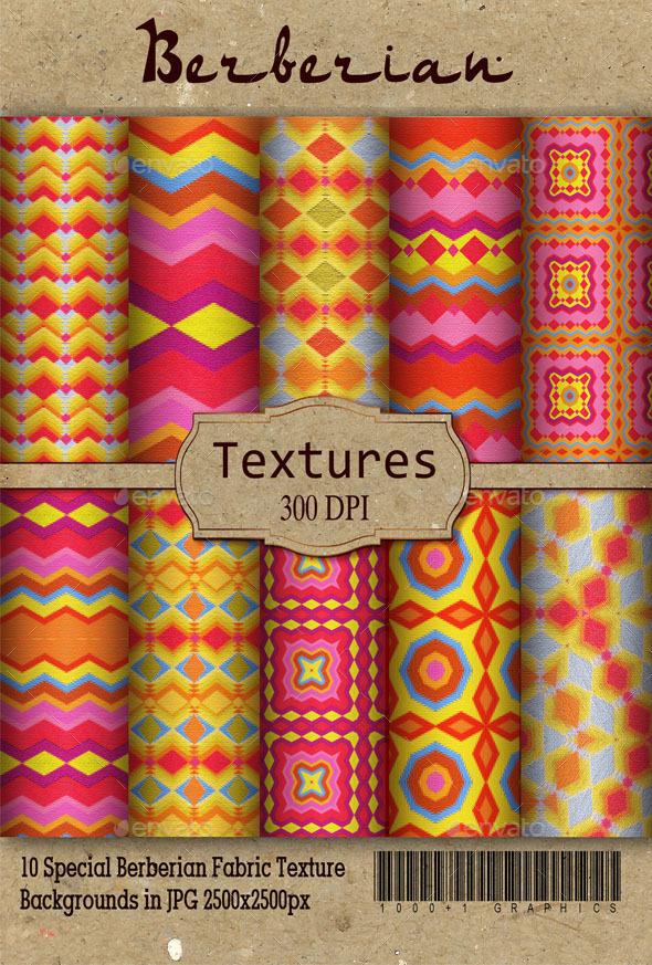 10 Special Berberian Textures - Backgrounds Graphics