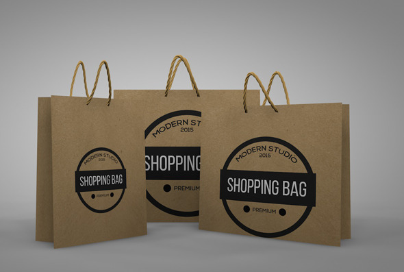 Paper Shopping Bags - 3DOcean Item for Sale