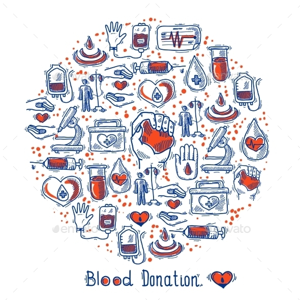Donor Icons Circle - Health/Medicine Conceptual