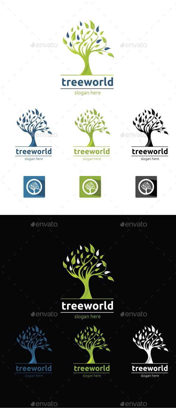 Tree World - Abstract Logo Templates