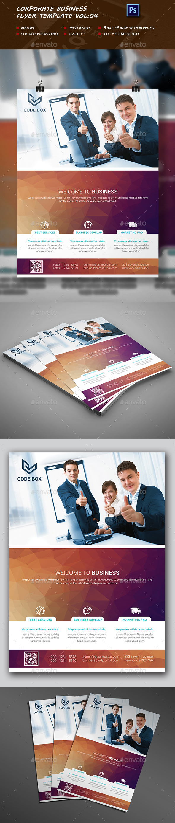 Corporate business Flyer Template vol:04 - Flyers Print Templates