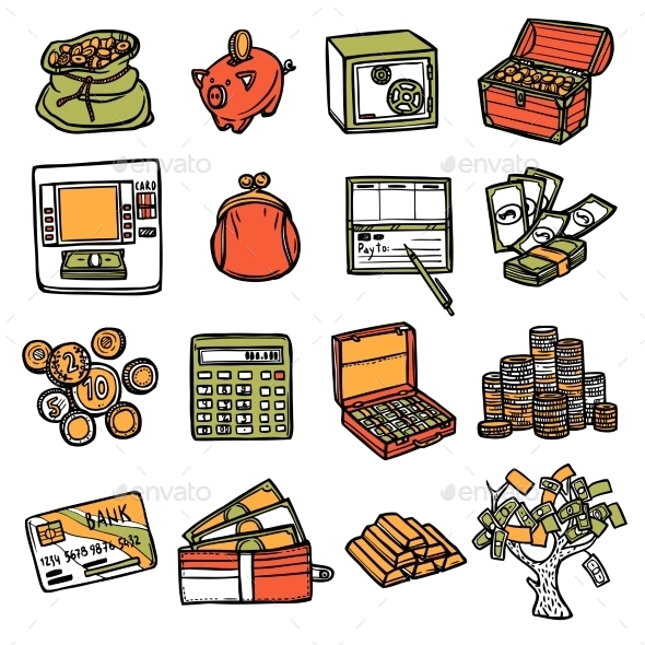 Financial Icons Set - Concepts Business