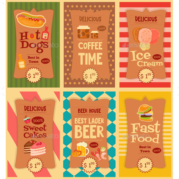Fast Food Stickers Collection - Food Objects