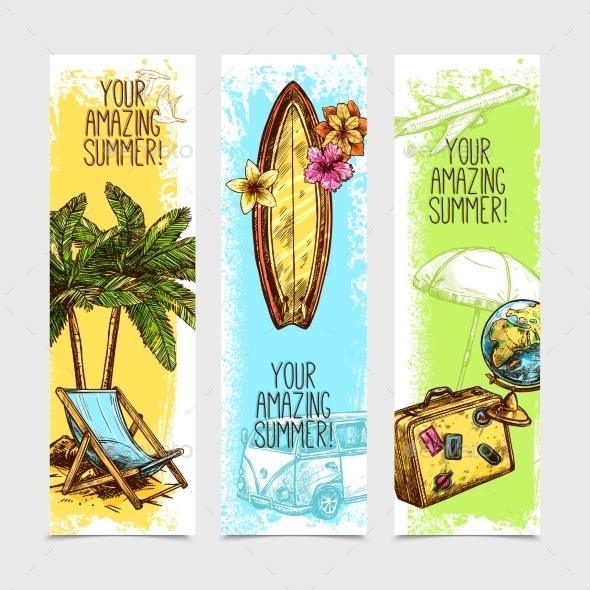 Travel Banner Set - Travel Conceptual