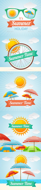 Summer Card Set - Seasons Nature