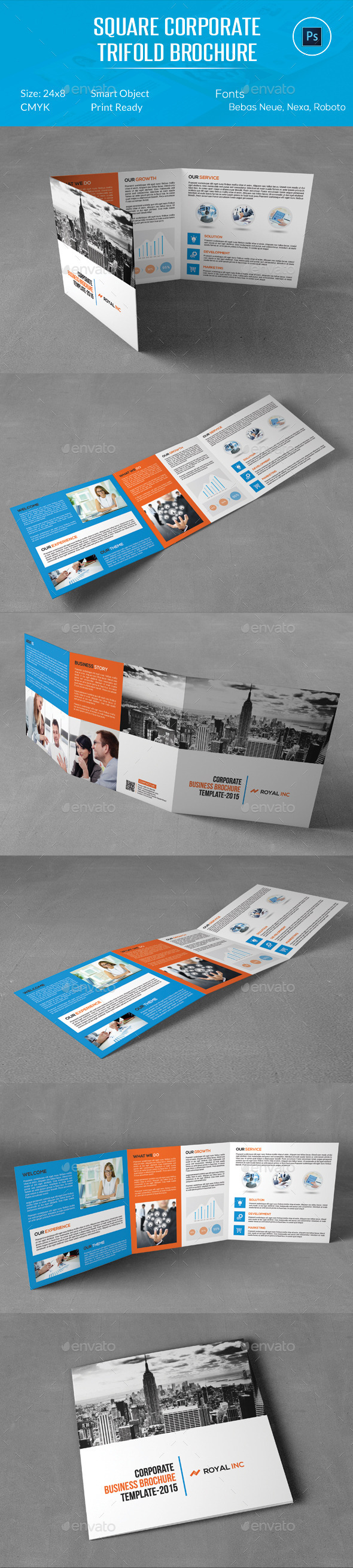 Square Corporate Trifold Brochure - Corporate Brochures