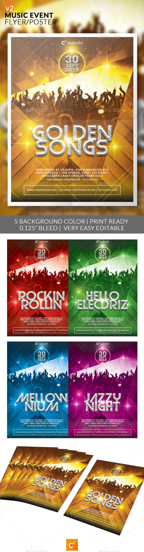 Music Event Flyer/Poster v2 - Concerts Events