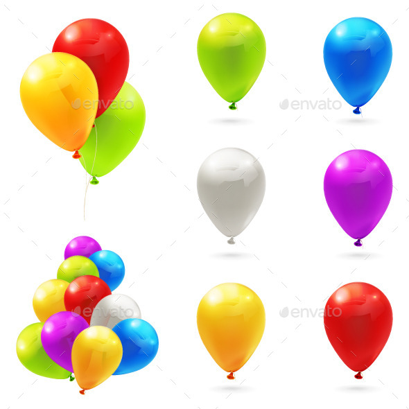 Toy Balloons Illustration - Man-made Objects Objects