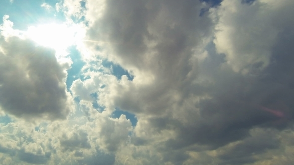 View Of The Sky And Clouds