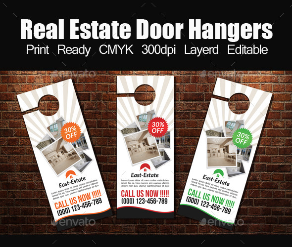 Real Estate Door Hanger Template By Designhub  Graphicriver