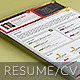 One Page Material Resume CV Template - GraphicRiver Item for Sale
