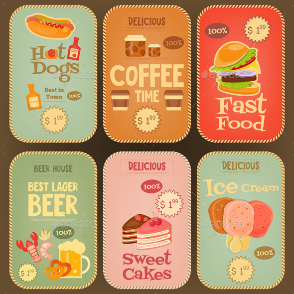Food Stickers Collection - Food Objects