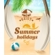 Summer Holidays Background - GraphicRiver Item for Sale