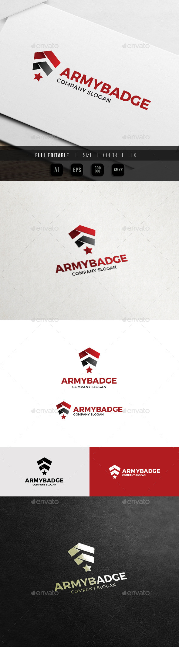 Army Badge - Military Soldier Logo - Symbols Logo Templates
