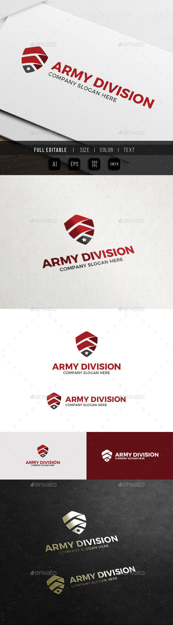 Army Shield - Military Security Logo - Symbols Logo Templates