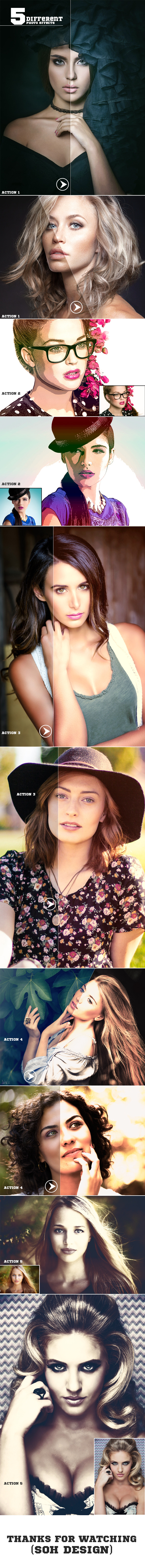 5-Different Photo Effects - Photo Effects Actions