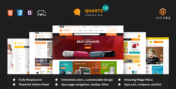 MT Quartz Magento Theme - Shopping Magento