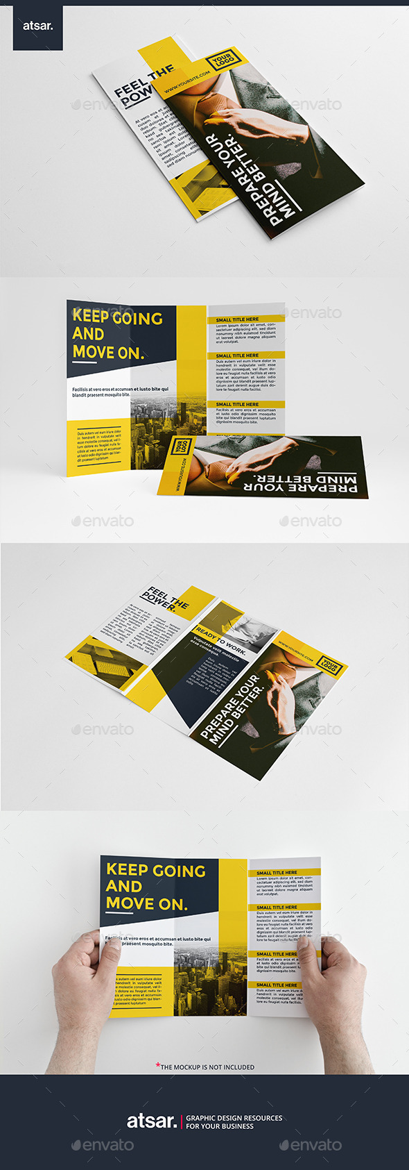 Business Yellow Trifold - Corporate Brochures