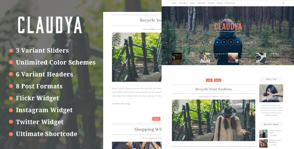 Claudya – Clean Personal Blog Theme