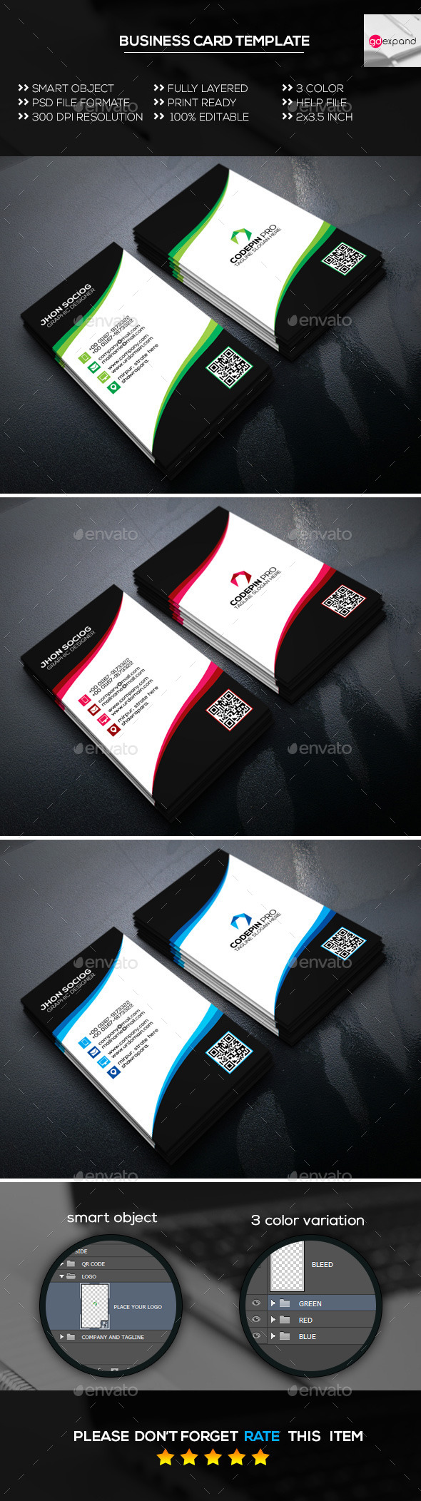 Creative Business Card Template 05 - Creative Business Cards