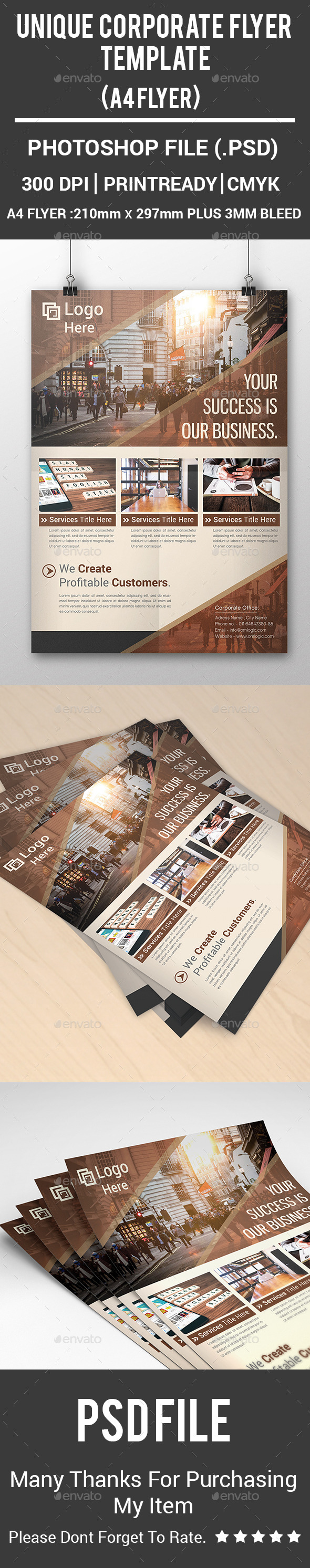 Unique Corporate Flyer Template - Corporate Flyers