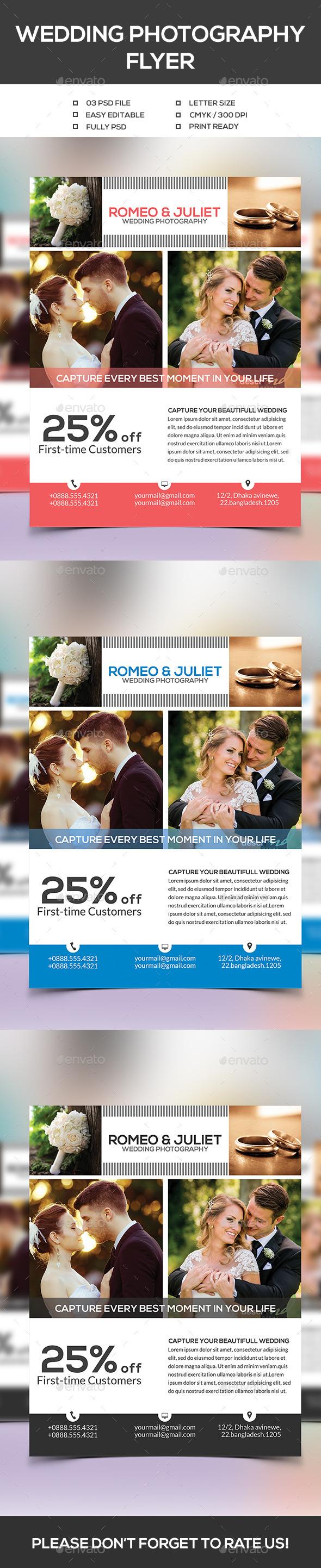Wedding Photography Flyer - Events Flyers