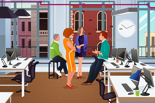 Informal Business Meeting in the Office - Business Conceptual