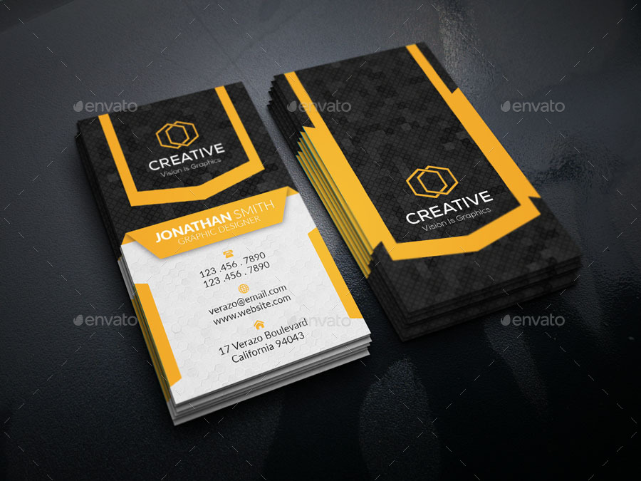 Vertical Creative Business Card by idea_gigs | GraphicRiver