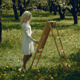 Artist Paints In The Garden - VideoHive Item for Sale