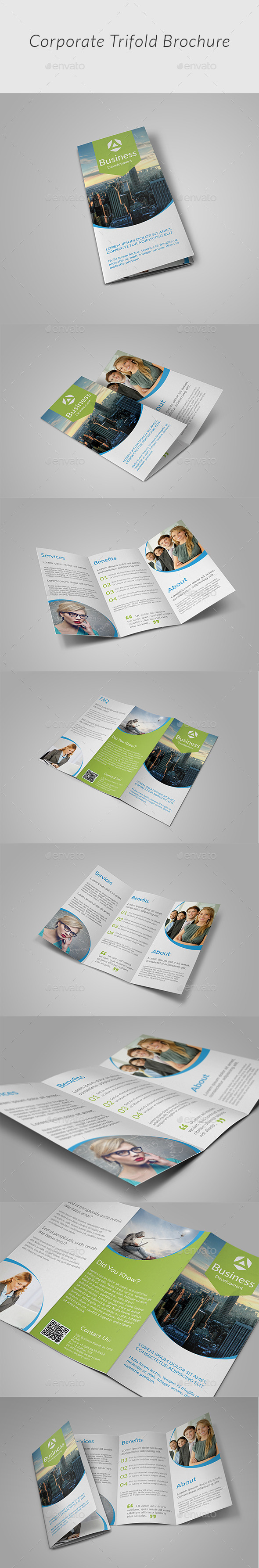 Creative Tri-fold Brochure v2 - Corporate Brochures