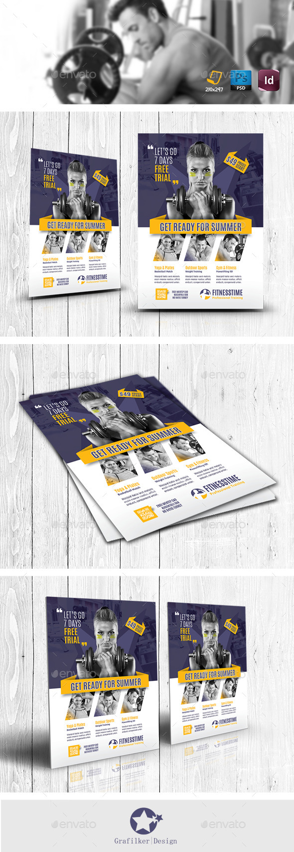 Fitness Time Flyer Templates - Corporate Flyers