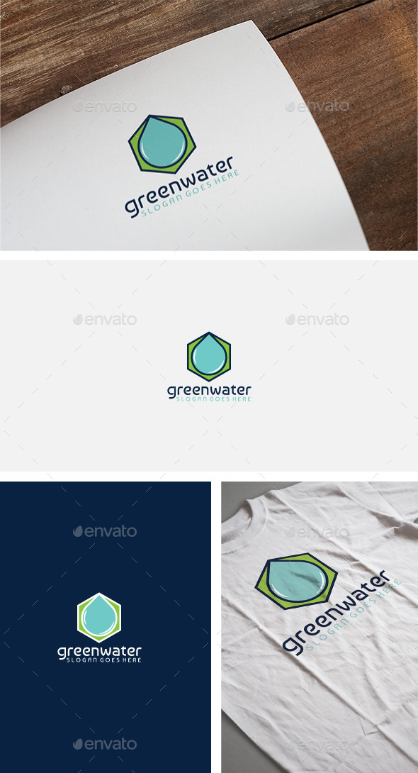 Green Water Logo - Nature Logo Templates