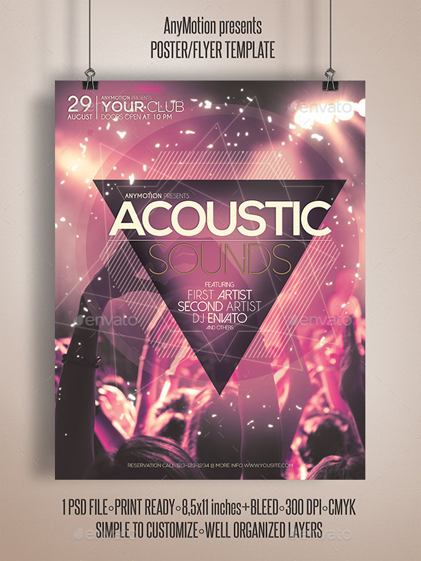 Acoustic Sessions Flyer Poster