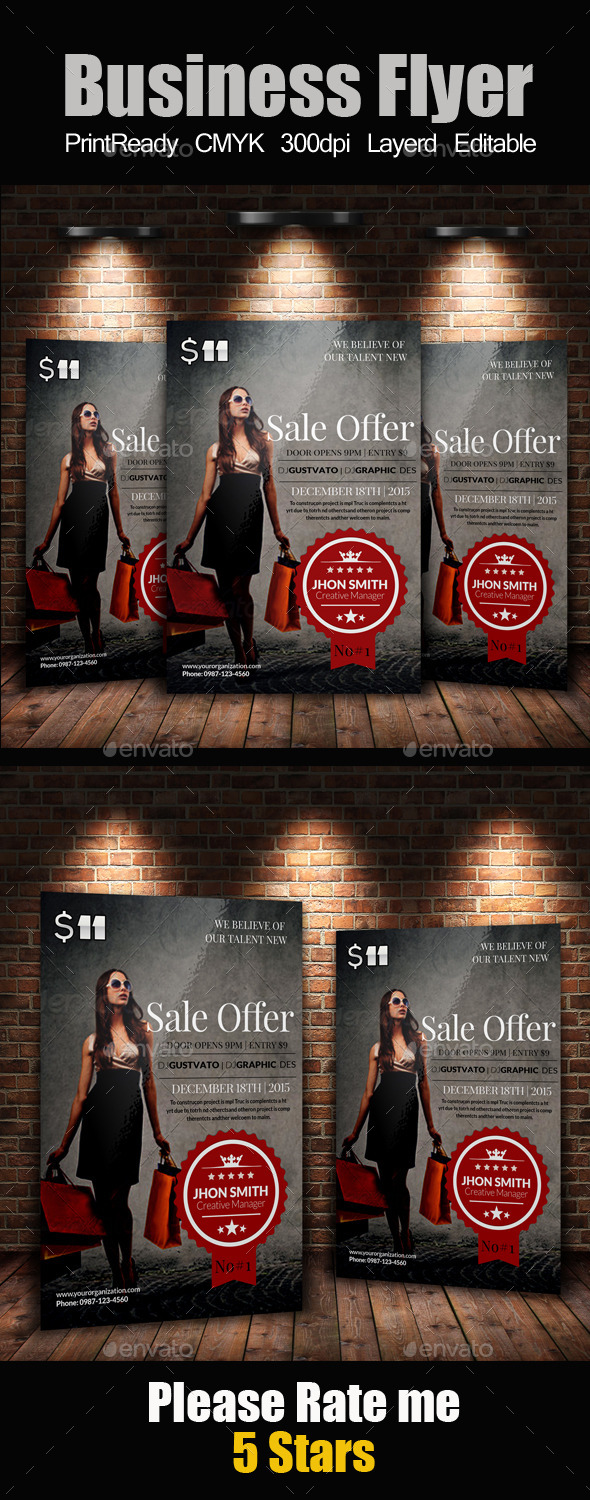 Big Sale Offer Flyer Template - Corporate Flyers